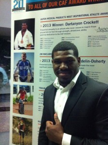Dartanyon wins Challenged Athlete's Foundation 2013 Most Inspiration Athlete